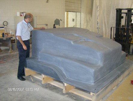 Fiberglass Plug - Military Humvee Hood - CNC with Duratec finish