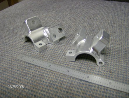 Machined Aluminum Prototype Brackets