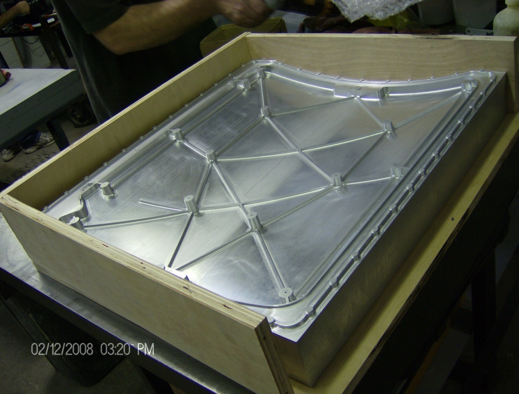 Curved Cover - Aluminum TRV Silicone Molding Pattern