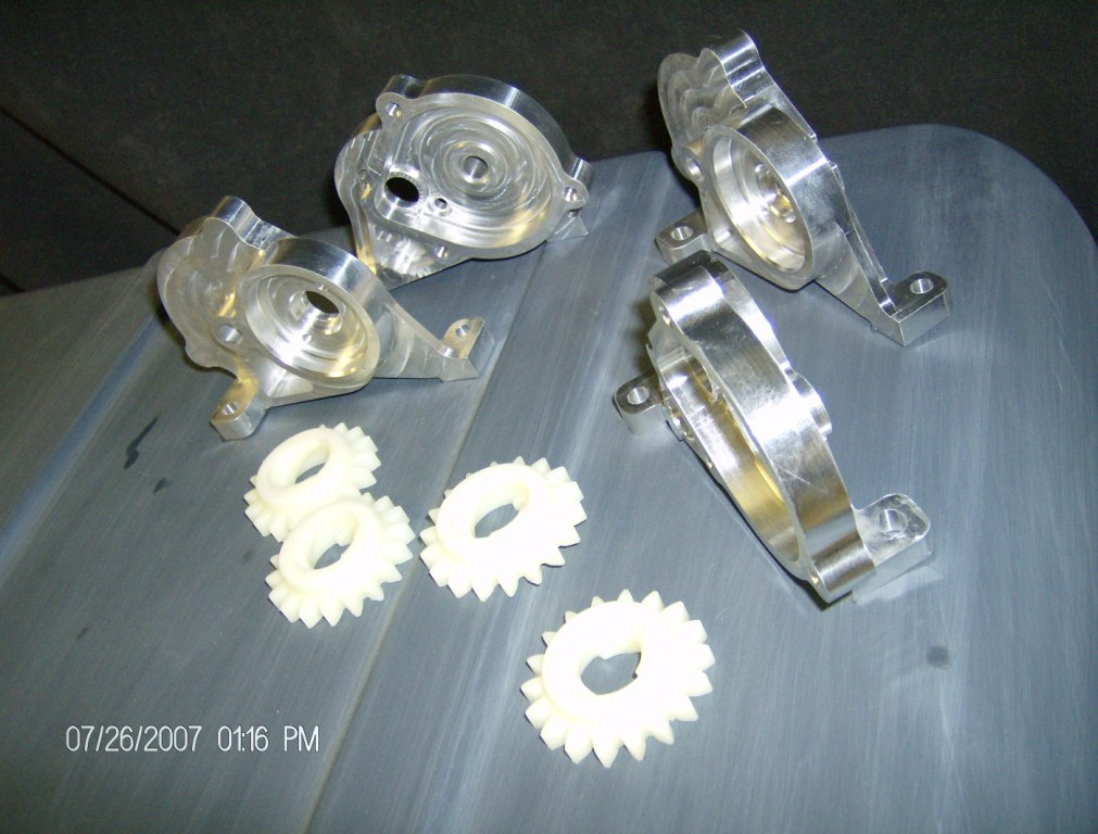 Plastic & Aluminum - Small Engine Part Prototypes