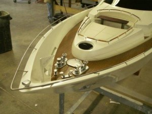 Scale Yacht Model - Bow Detail